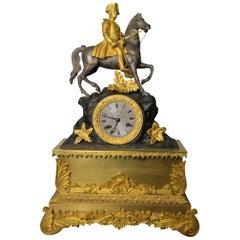 Pendulum Napoleon Gilt Bronze, 19th Century