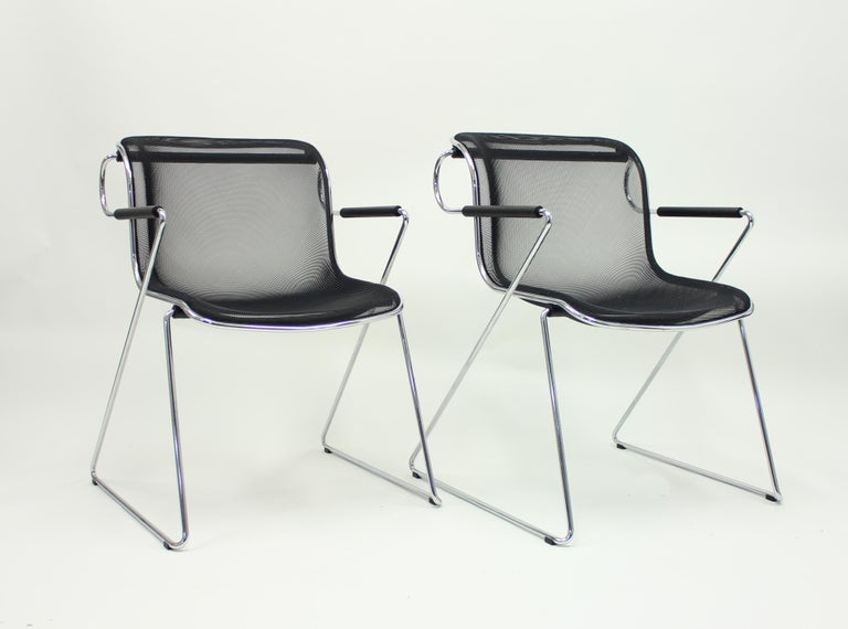 Penelope Chair by Charles Pollock for Castelli, Set of 2 For Sale 3