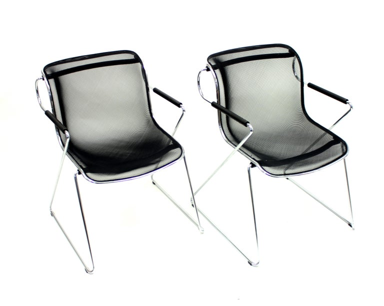 Penelope Chair by Charles Pollock for Castelli, Set of 2 For Sale 4