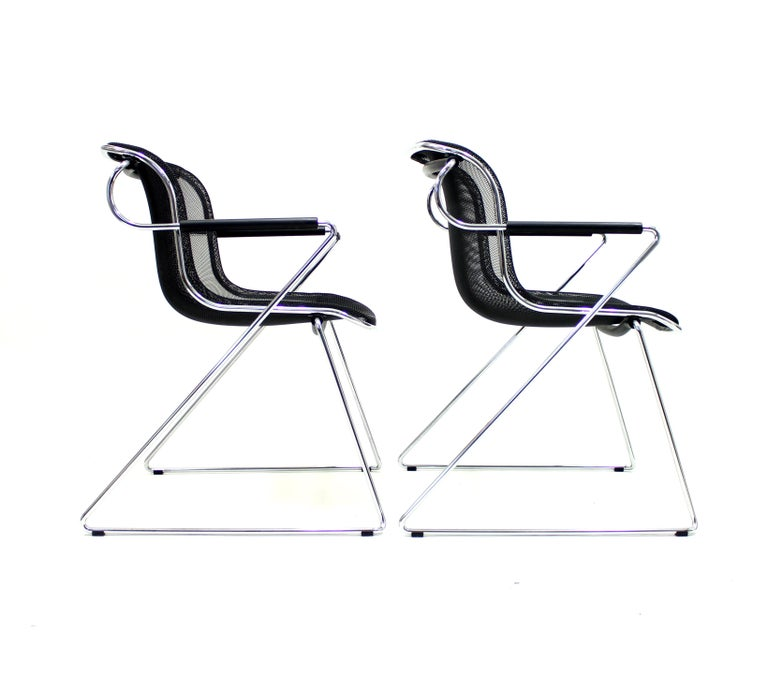 Penelope Chair by Charles Pollock for Castelli, Set of 2 For Sale 5