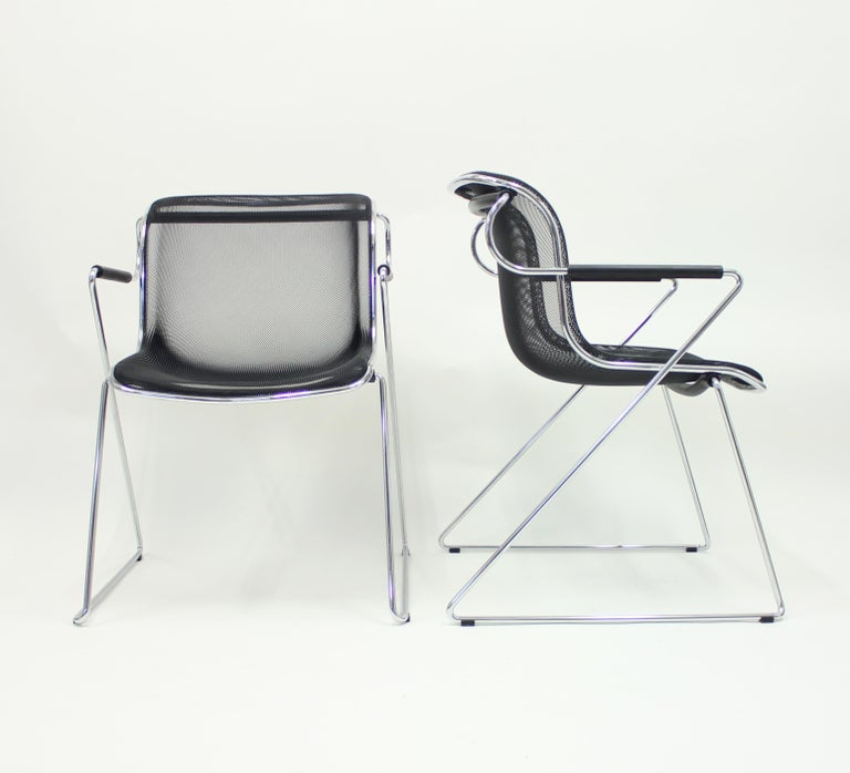 Italian Penelope Chair by Charles Pollock for Castelli, Set of 2 For Sale