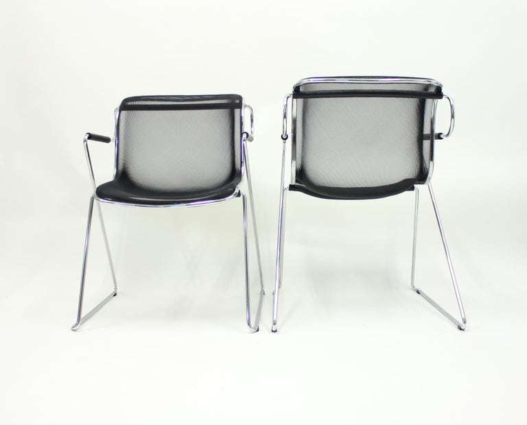 Penelope Chair by Charles Pollock for Castelli, Set of 2 In Good Condition For Sale In Uppsala, SE