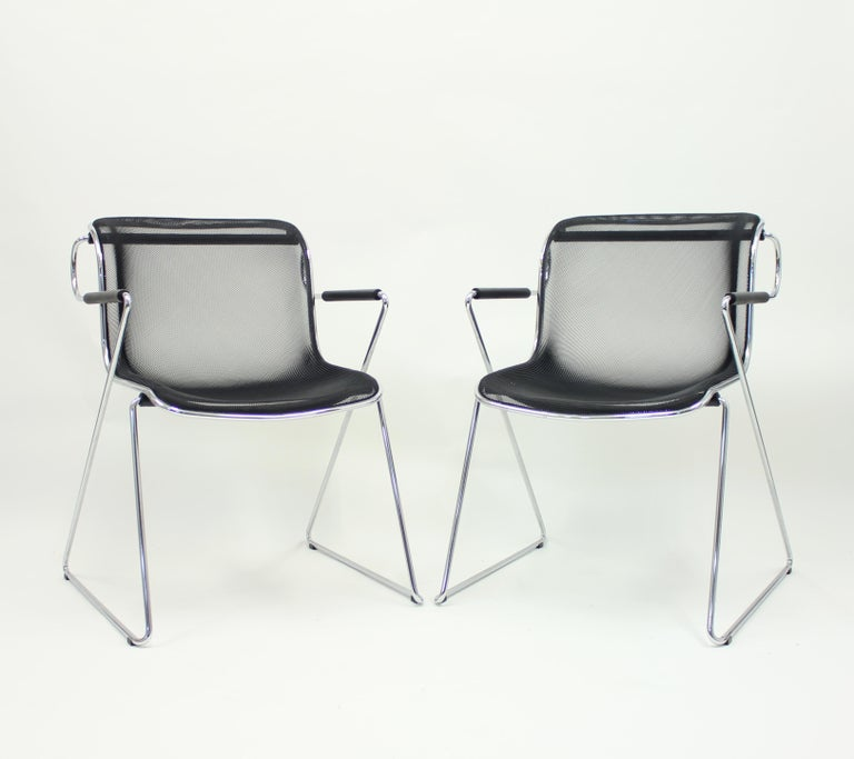 Late 20th Century Penelope Chair by Charles Pollock for Castelli, Set of 2 For Sale