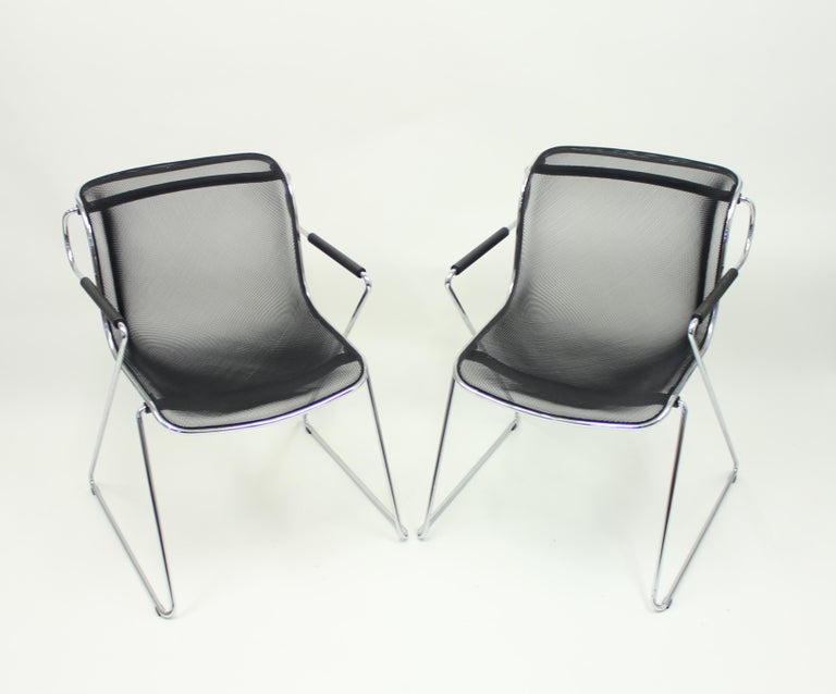 Steel Penelope Chair by Charles Pollock for Castelli, Set of 2 For Sale