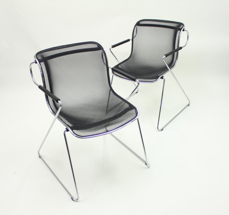 Penelope Chair by Charles Pollock for Castelli, Set of 2 For Sale 1