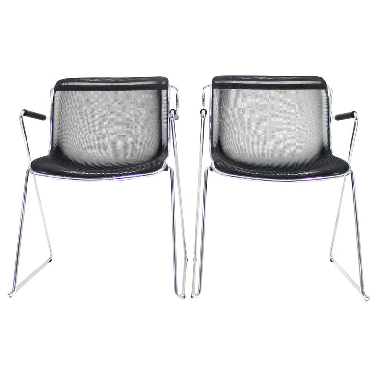 Penelope Chair by Charles Pollock for Castelli, Set of 2 For Sale