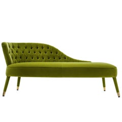 Penelope Green Chaise Longue