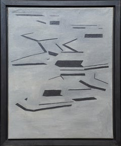 Conceptual Abstract 1963 - British Modernist art oil painting female artist
