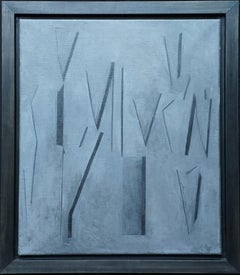 Conceptual Abstract VI - British Sixties abstract art oil painting female artist