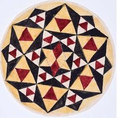 Penelope Ellis Mid-Century Design Geometric Circle II Modern British Art Gouache