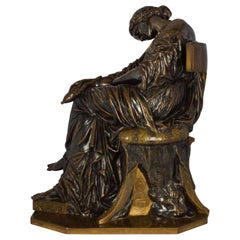 """Penelope Sleeping"" Bronze Sculpture by Pierre Jules Cavelier"""