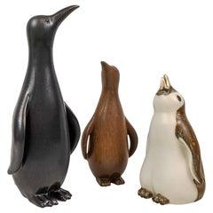 Penguin Family Set of 3 Rörstrand Gunnar Nylund Sweden