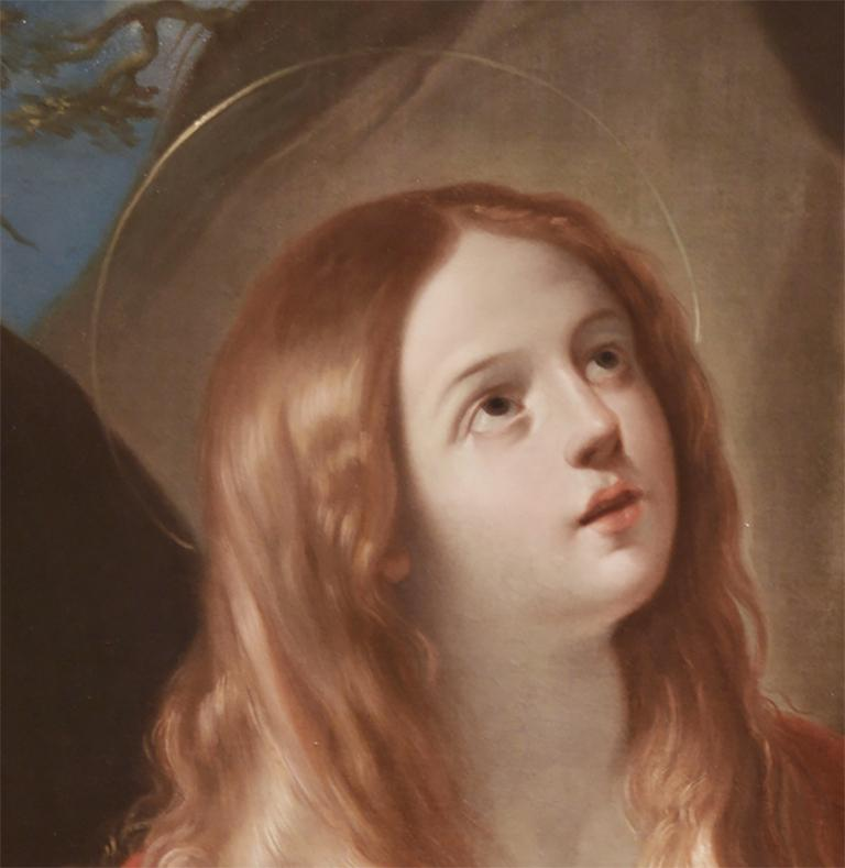 Renaissance Penitent Mary Magdalene by 17th Century Italian Painter Francesco Gessi For Sale