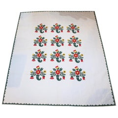 Pennsylvania Applique Quilt, Dated 1945