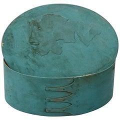 Pennsylvania Dutch Shaker Four-Finger Lidded Box, 20th Century