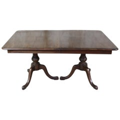 Pennsylvania House Mahogany Duncan Phyfe Traditional Pedestal Dining Table