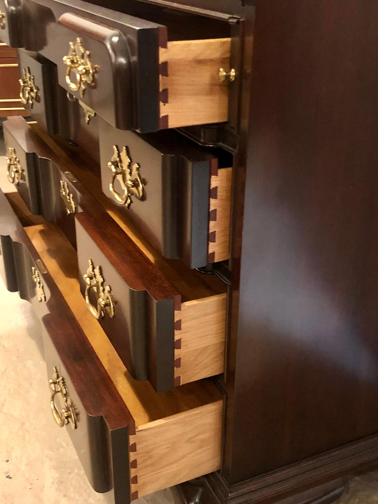 Pennsylvania House Secretary Desk / Bookcase in the Chippendale Style For Sale 10