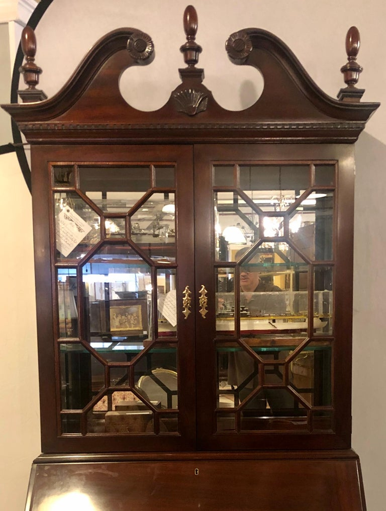 American Pennsylvania House Secretary Desk / Bookcase in the Chippendale Style For Sale