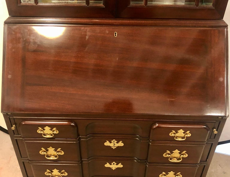 Pennsylvania House Secretary Desk / Bookcase in the Chippendale Style For Sale 1