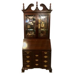 Pennsylvania House Secretary Desk / Bookcase in the Chippendale Style