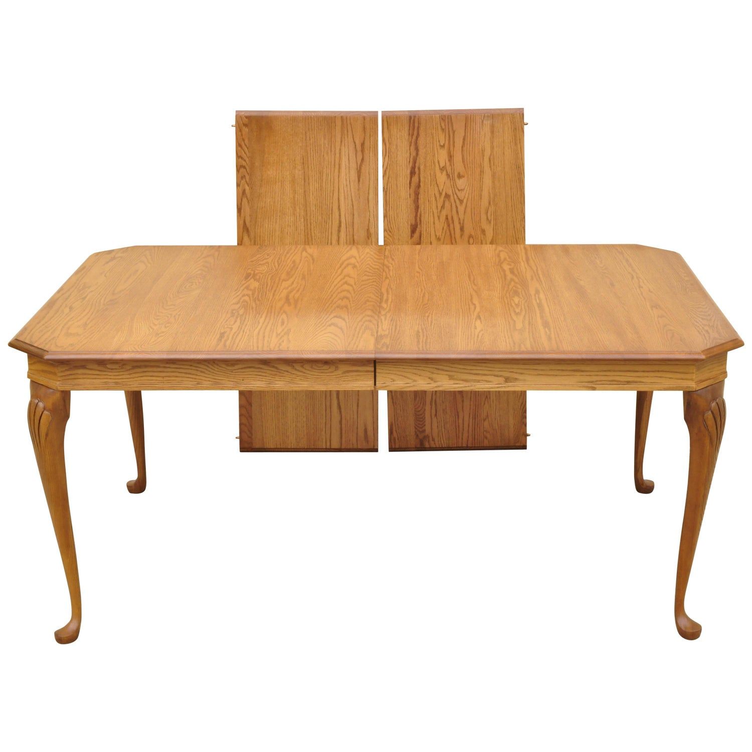 Pennsylvania House Stonehouse Oak Collection Queen Anne Dining Table W 2 Leaves For Sale At 1stdibs