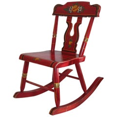 Pennsylvania Original Red Painted Children's Rocking Chair