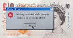 """""""Printer Error - Sterling"""" In a black museum quality frame with non-glare glass"""