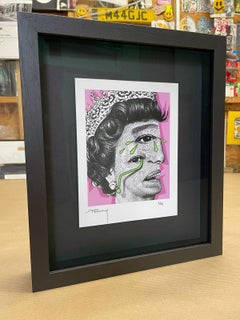 Weeping Woman P (Framed in a museum quality frame with premium non glare glass)