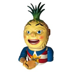 """Penny Pineapple"" Mechanical Bank Commemorating Hawaiin Statehood American, 1960"