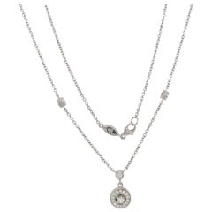 Penny Preville Diamond Round Pendant on a Diamond by the Yard Necklace