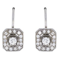 Penny Preville White Gold 0.52 Carat Round Diamond Drop/Dangle Earrings