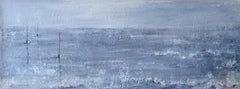 """""""A Quiet Mooring"""", contemporary seascape painting, oil on canvas"""
