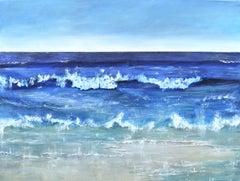 """Atlantic Blue II"" : A contemporary seascape oil on canvas."