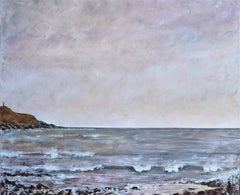 """""""Breathing Space"""": A contemporary seascape, oil on canvas."""