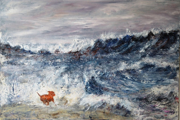 Penny Rumble Landscape Painting - Exhilarating Ocean.   Contemporary Seascape Oil Painting