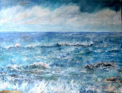 Listen To The Sound Of The Sea, Contemporary Seascape Oil Painting