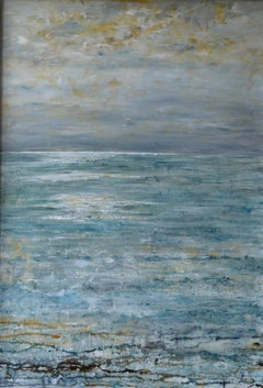"""""""No Wind Today"""", seascape oil on canvas"""