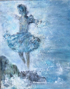 Oceans Dance. Contemporary Figurative Oil Painting