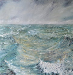 Peaks and Troughs. Contemporary Seascape Oil Painting