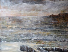 The Remains Of The Day. Contemporary Oil Seascape Painting