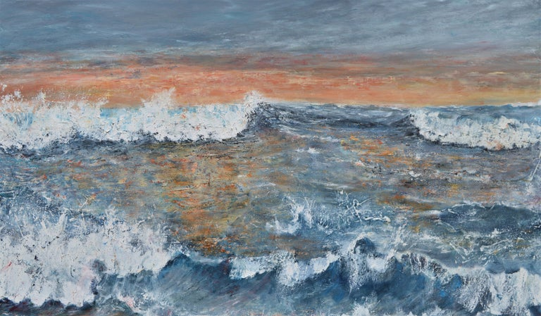 """Penny Rumble Landscape Painting - """"Western Promise: A Good Day Beckons"""".  Large Contemporary Seascape Oil Painting"""