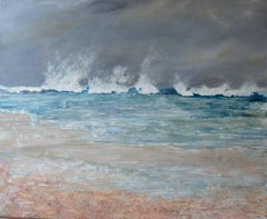 White Water, Contemporary SeascapeOil Painting