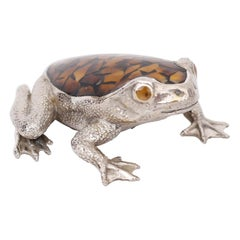 Penshell and Silvered Bronze Frog
