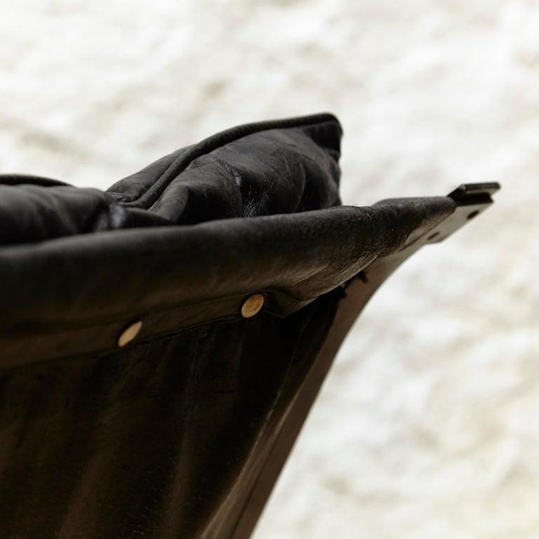 Pep Bonet Tuman Black Leatherette Lounge Chair for Levesta, circa 1969 For Sale 5
