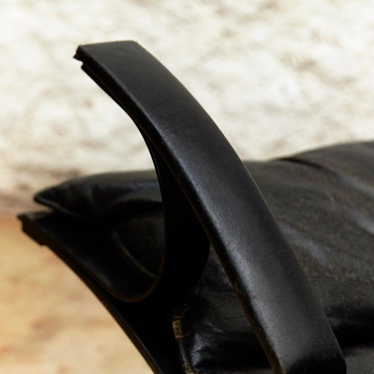 Pep Bonet Tuman Black Leatherette Lounge Chair for Levesta, circa 1969 For Sale 6