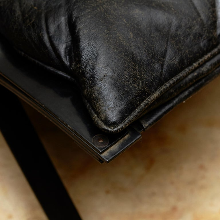 Mid-20th Century Pep Bonet Tuman Black Leatherette Lounge Chair for Levesta, circa 1969 For Sale