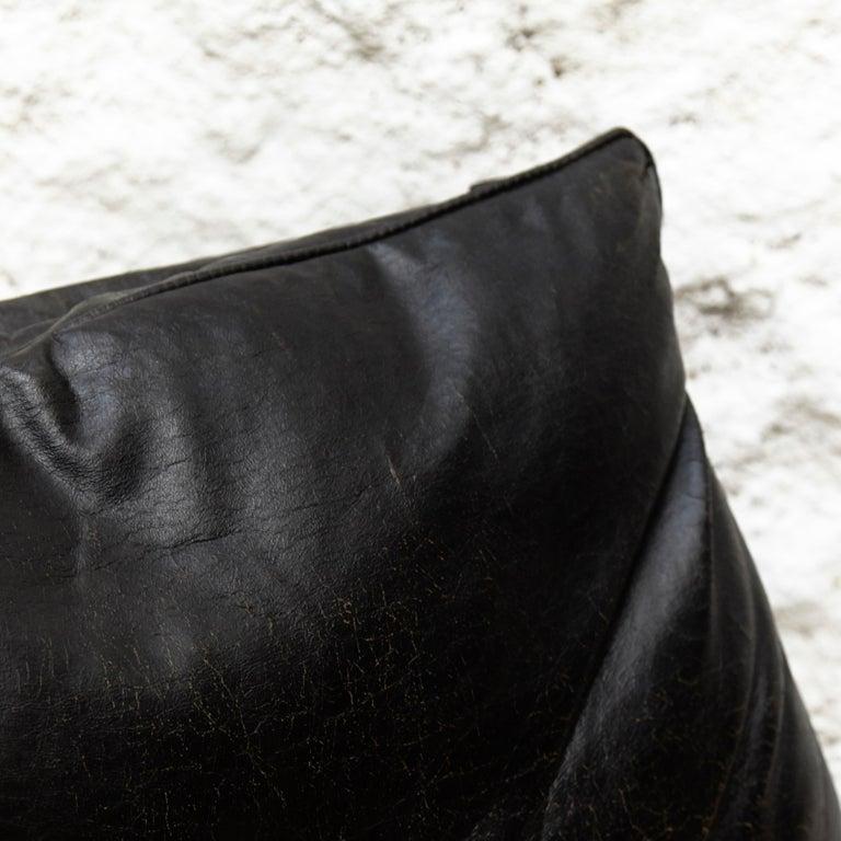 Pep Bonet Tuman Black Leatherette Lounge Chair for Levesta, circa 1969 For Sale 2