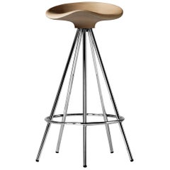Pepe Cortes Contemporary Jamaica Steel Wood Stool for BD Barcelona