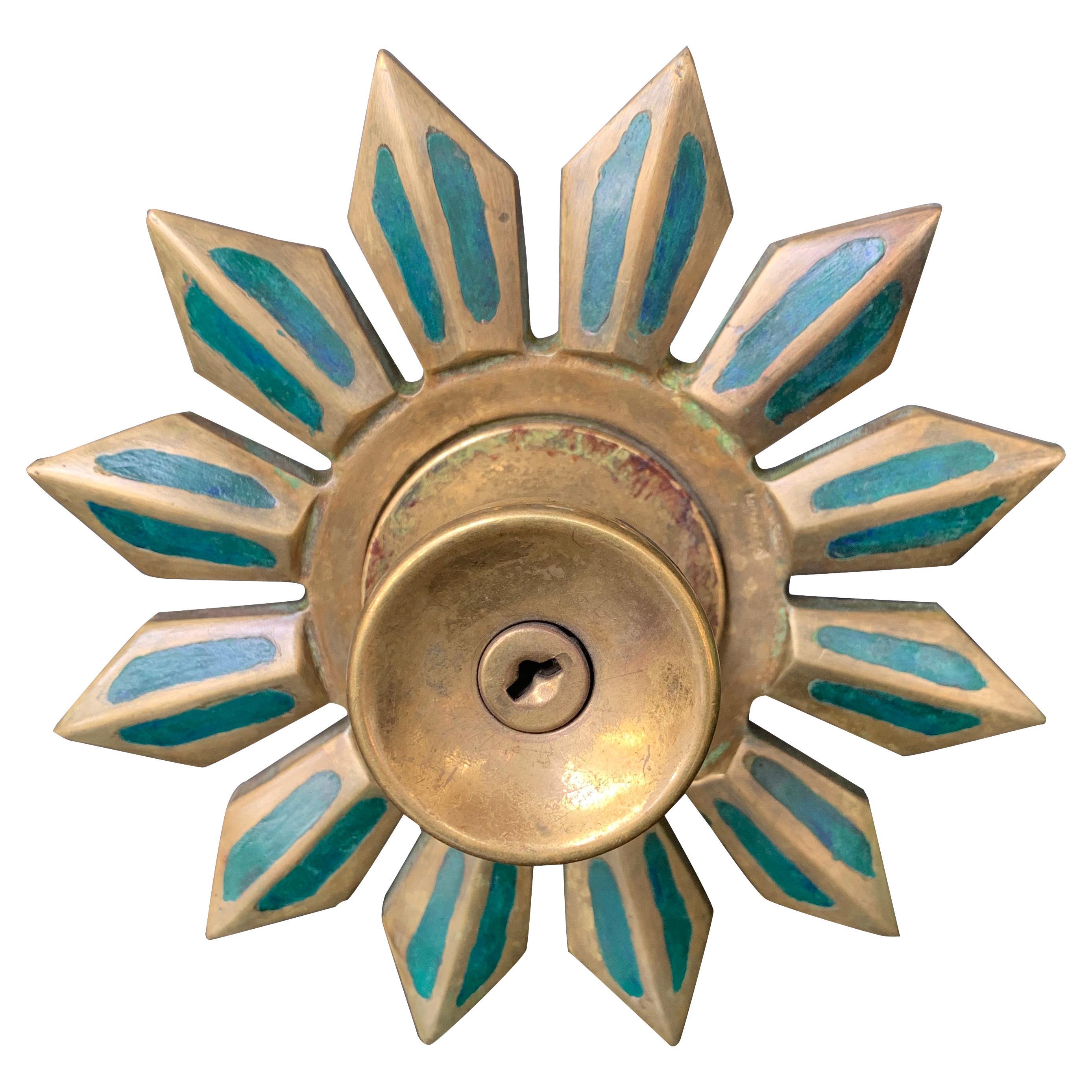 Pepe Mendoza Aztec Sun Door Knob