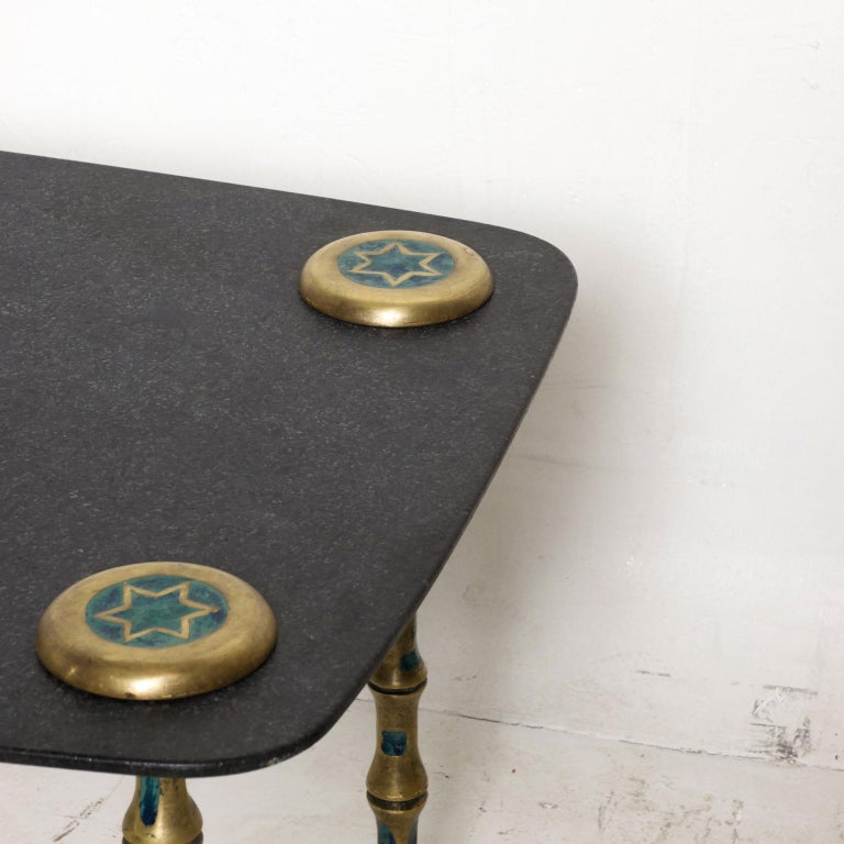 Bronze Pepe Mendoza Coffee Table Midcentury Mexican Modernist